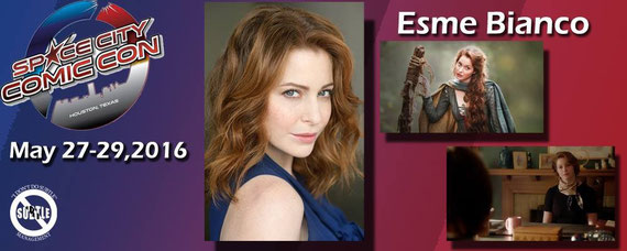 5/27-5/29/16 - Houston, TX. - Space City Con with Esme' Bianco.