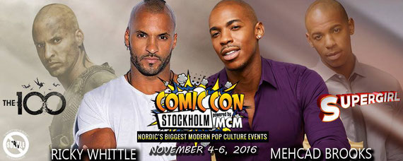 11/4-11/6/16 - Providence, RI. - Rhode Island Comic Con with Ricky Whittle, Mehcad Brooks.