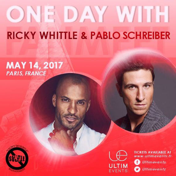 5/14/17 - Paris, France - American Gods One Day Event - With Ricky Whittle, Pablo Schreiber.
