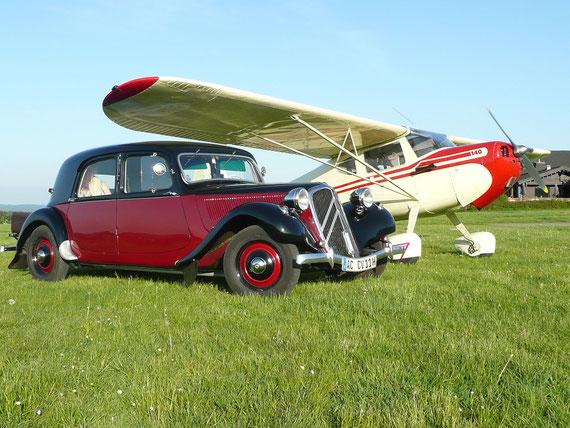 Cessna 140 und Citroen CTA