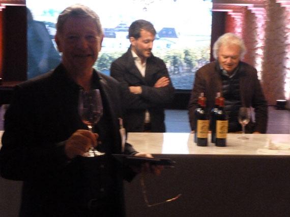 met Hubert de Boüard de Laforest van chateau l' Angélus Saint-Emilion Bordeaux