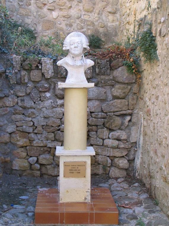 Le buste de Honoré Gabriel Riquetti