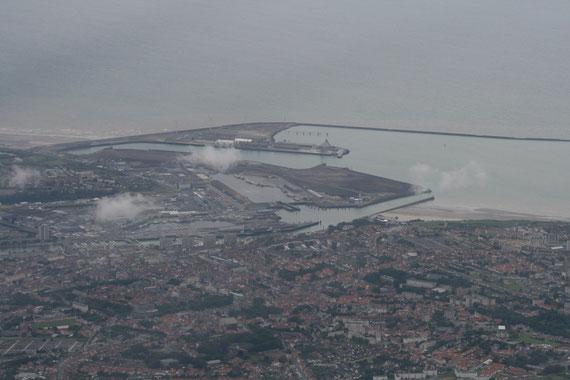 Vue du port de Boulogne