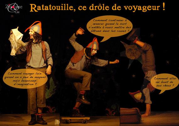 Affiche Ratatouille, ce drôle de voyageur !