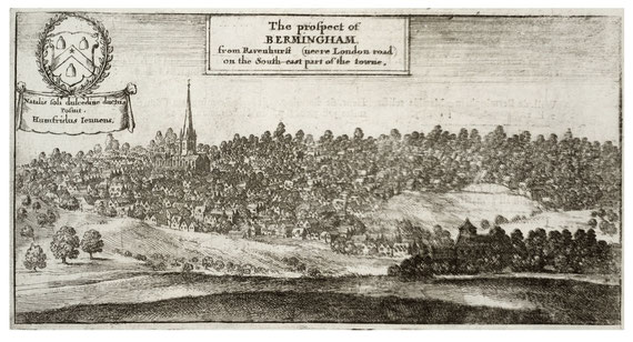 Wenceslaus Hollar's Prospect of Birmingham 1656