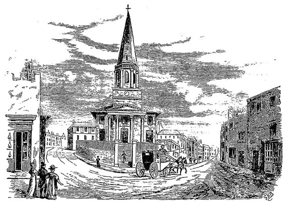 image from R K Dent 1880 'Old & New Birmingham' - now out of copyright