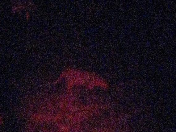 Foto scattata alla luce di una spot-lamp schermata di rosso.