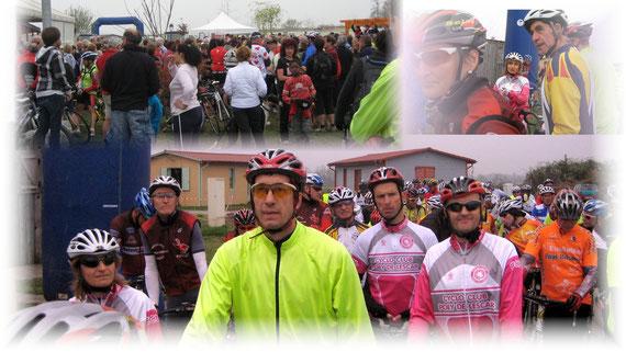 Environ 150 cyclos au départ du Parcours du Coeur.