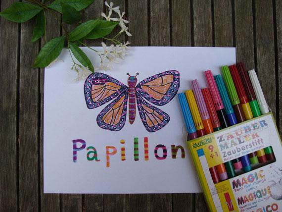 マジック、ペン、お絵描き、子供、パリ