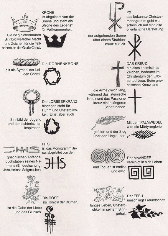 Symbole und ihre Bedeutung - Schult Steinmetz und