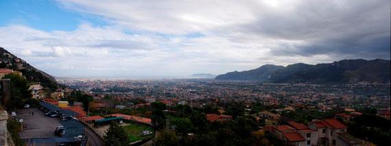 Palermo vu depuis Monréale