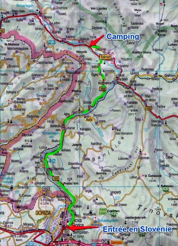 Lundi 14 Juillet / Jour 1 / Crémone (Italie), Zatolmin (environ de Tolmin) (Slovénie) 412 Kms