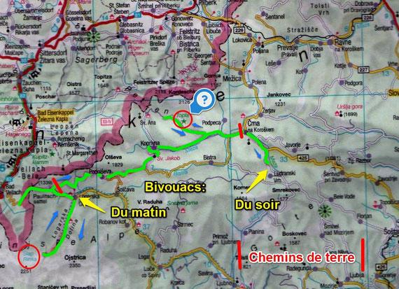Slovénie jour 6 / Entrée de la  vallée de Logarska Dolina / Crna Na Coroskem  (77 Kms)