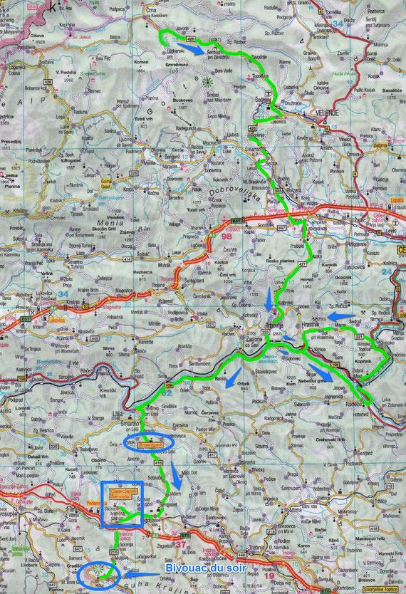 Slovénie Jour 7 / Crna Na Coroskem  / Source de la Krka à Trebnja gorica/ (Gradicek) (177 Kms)