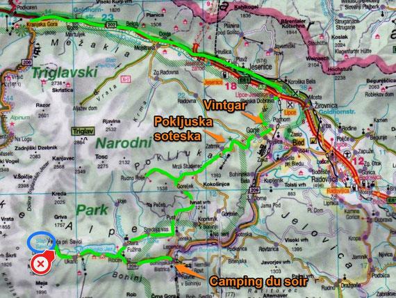 Mercredi 16 / Jour 3 / Lac de Kranjska / Bohinjska Bistrica  (133 Kms)