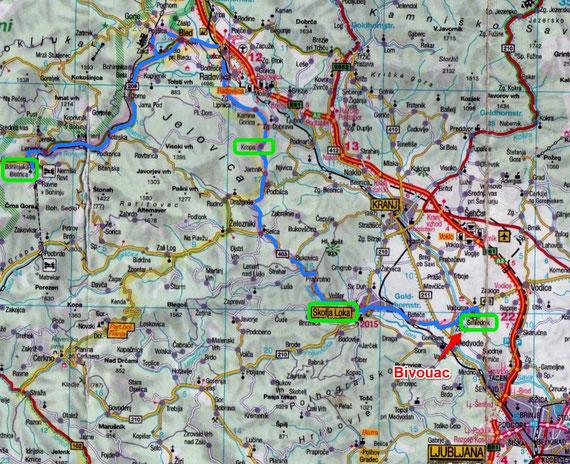Jeudi 17 Juillet / Jour 4 / Bohinjska Bistrica  / Smlednik (92 Kms)