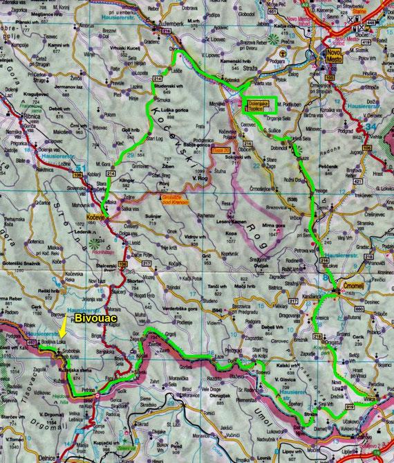 Slovenie 2014 jour 9 /  Kočevje / Bosljiva Loka (163 Kms) via les thermes de Dolenjske Toplice