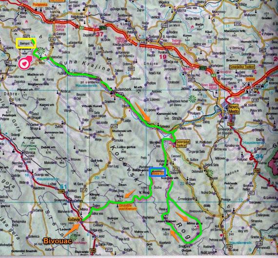 Slovenie 2014 Jour 8 / Source de la Krka à Trebnja gorica/ (Gradicek) / Kočevje (127 Kms)