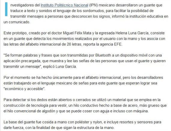 Fuente: http://www.lanacion.com.ar/1808440-crearon-un-guante-que-traduce-el-lenguaje-de-los-sordomudos
