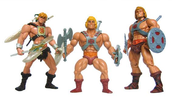 La TV introdujo en las casas a los súper heroes. Los chicos coleccionaban todos los muñecos de las series. Aquí el famoso He man.