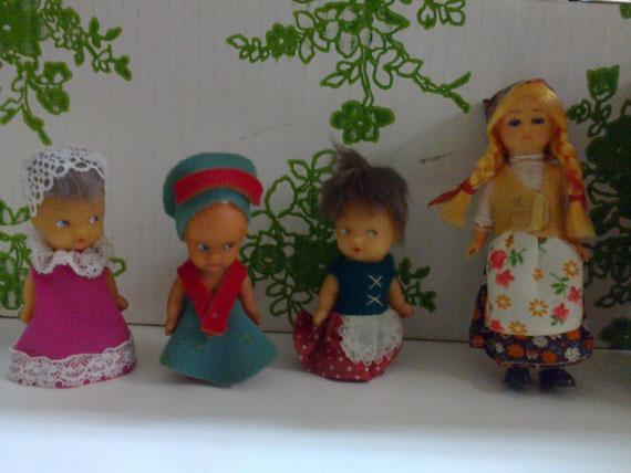 Colección de étnicas en miniatura.