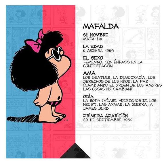 Datos extraidos del facebook oficial de Mafalda