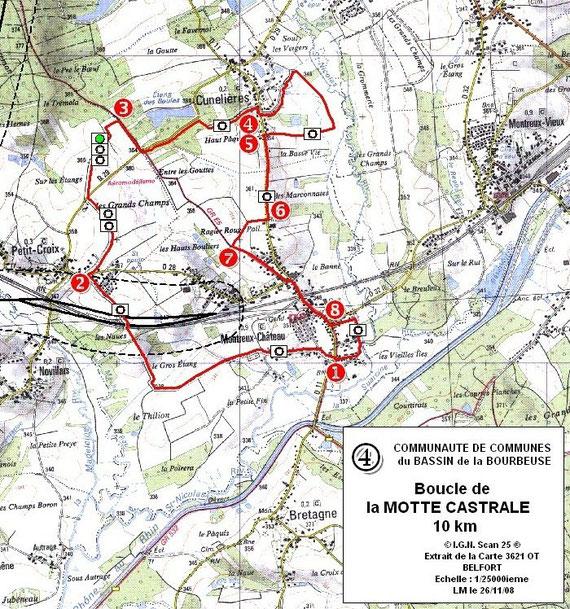 Sentier de randonnée de la motte castrale - Cliquez pour agrandir l'image
