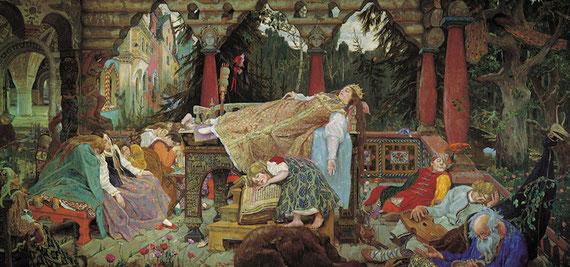 """""""Alors que de nombreux contes de fées insistent sur les exploits que doit accomplir le héros pour devenir lui-même, La Belle au bois dormant insiste sur la concentration intérieure, longue et paisible, qui est également recquise. """" Psychanalyse des contes"""