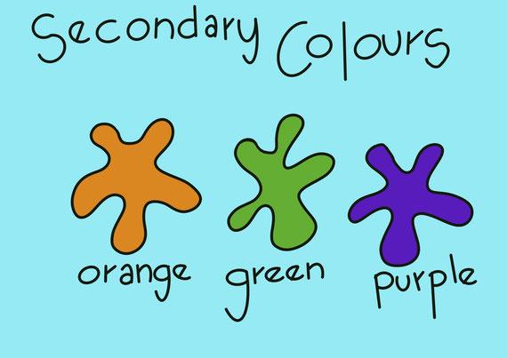 Secondary colours art lesson plans