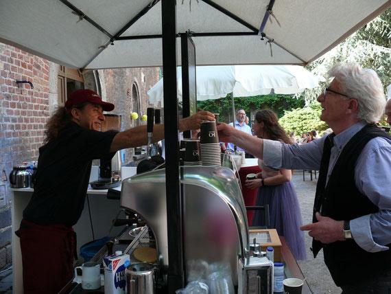 Espresso und mehr. Frisch zubereitet an unserem Cappuccino Bike.
