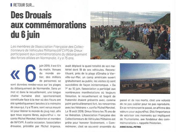 Article publié dans le magazine M'TIVILLE de DREUX n° 54