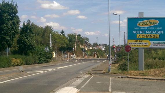L'embuscade allemande du passage à niveau bonsecours à DREUX, vers où se dirigeaient les chars américains.