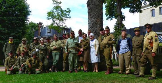 Membres AFCVM présents au 75ème anniversaire de la libération de DREUX
