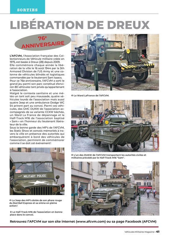 Magazine Véhicules Militaires - août 2020