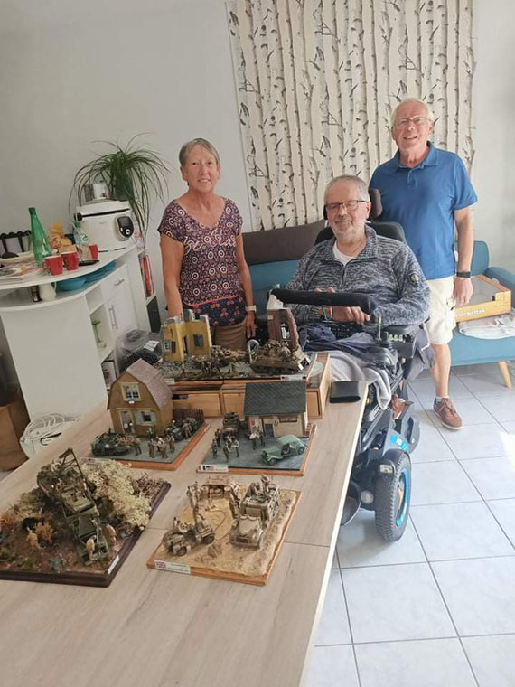 M. Régis TRINEZ de LIEVIN (62) offre au Musée de l'AFCVM de magnifiques dioramas qu'il a lui même réalisé avec beaucoup de talent.
