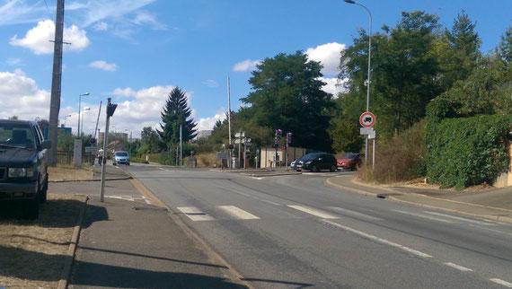 Vue inverse de cette position allemande. En face la route de Brezolles par où sont arrivés les chars américains.