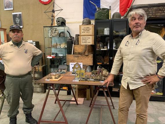Ces maquettes sous forme de dioramas, représentent des scènes de guerre au cours de la WW2