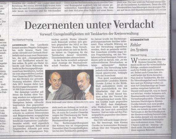 MAZ/Zossener Rundschau 17.05.2013