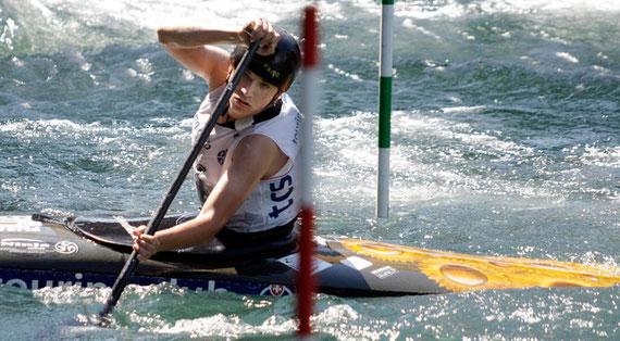 Lukas Steiner bei seinem Sieger-Lauf…