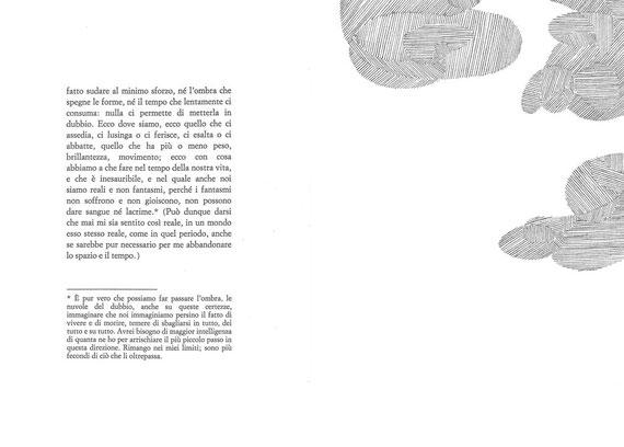 pagina tipografica e pagina con interventi originali di Paola Fonticoli