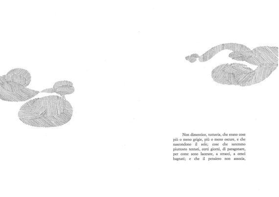 pagina tipografica e interventi originali di Paola Fonticoli in testo e fuori testo