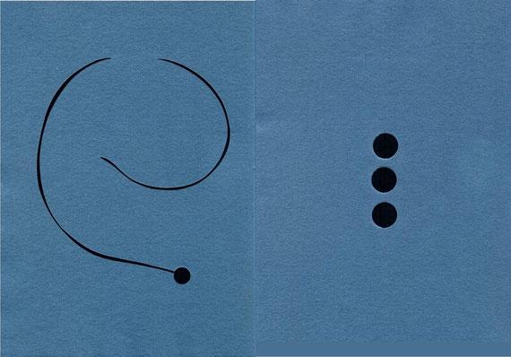 """intervento dell'artista su doppia pagina del quaderno """"Ombre"""""""