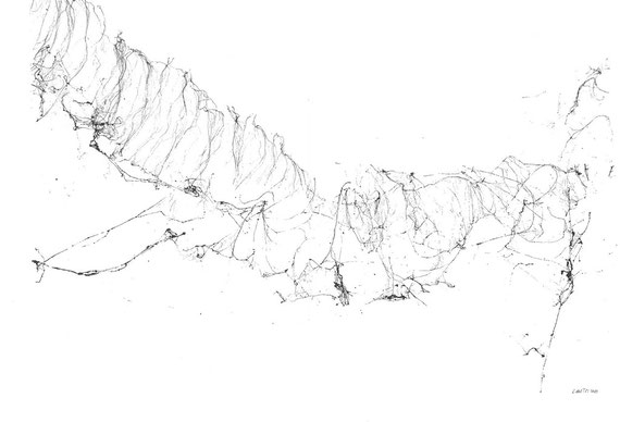inchiostro originale di Loriana Castano a doppia pagina