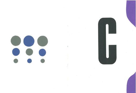 carattere tipografico in legno e intervento originale dell'autrice a doppia pagina