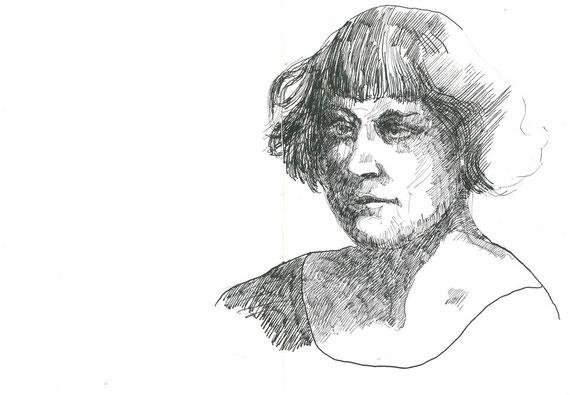 disegno originale a china di Gianni Bolis a tripla pagina (particolare)