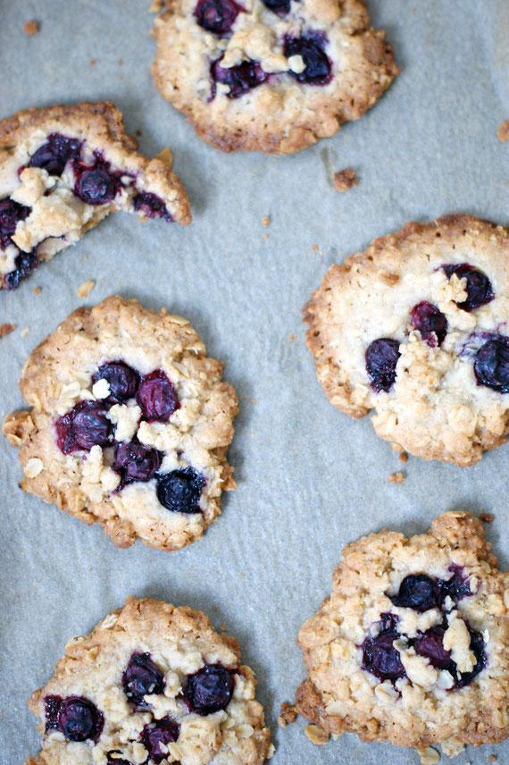 Crumble-Cookies mit Blaubeeren