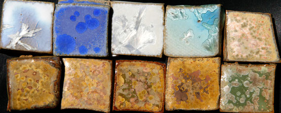 glaçures Cristallisations