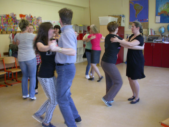 polka -forgás gyakorlása