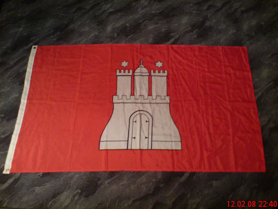 Hamburger-Stadt-Wappen 1,50x0,90cm