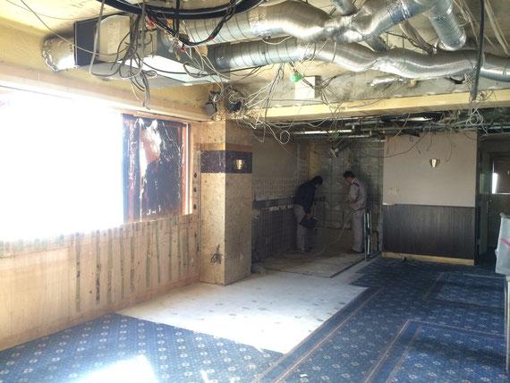 ラス パパス 改装工事の様子:解体工事完了